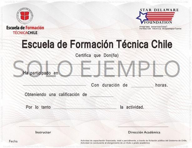 certificado de ejemplo ecospace chile