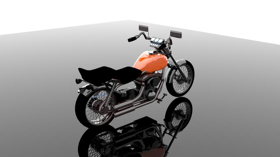 Moto Ejemplo | Curso 3d Studio Max Modelado