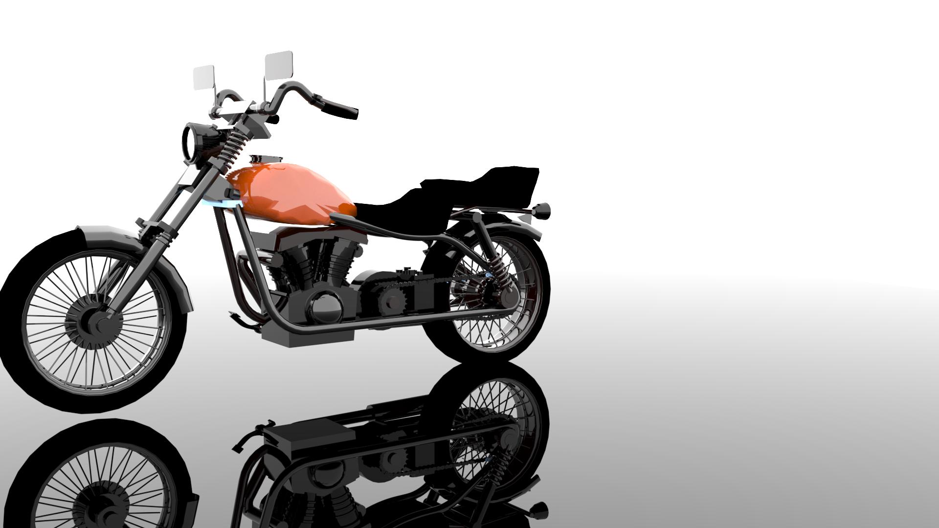 Moto Ejemplo 2 | Curso 3d Studio Max Modelado