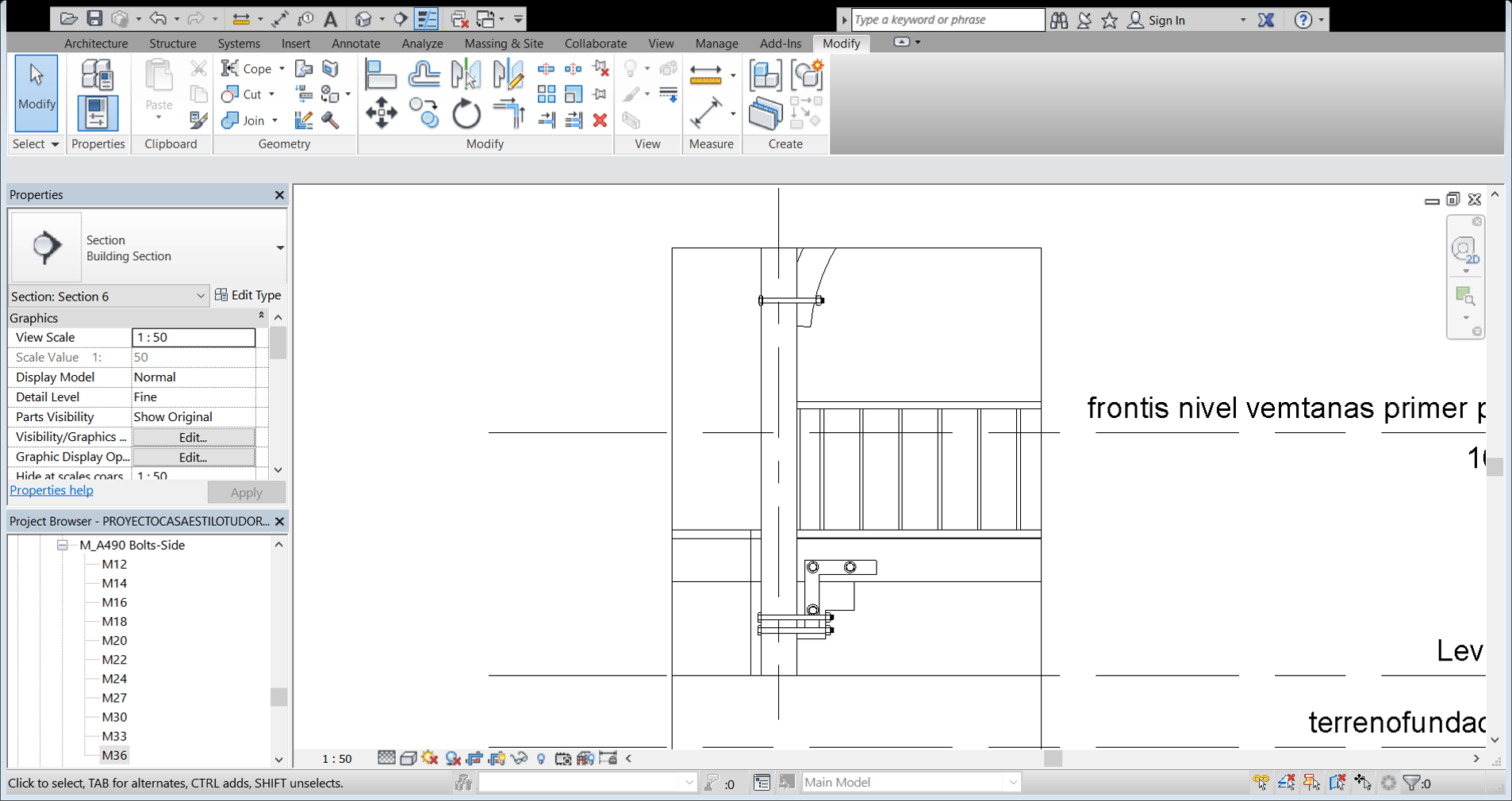 detalle constructivo | Curso Revit Structure