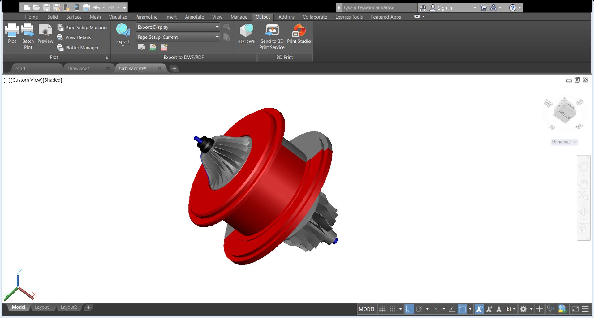 turbina | Curso Autocad Mecanico